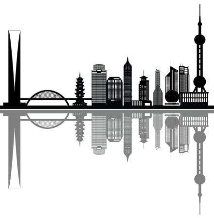 shanghai skyline: shanghai skyline