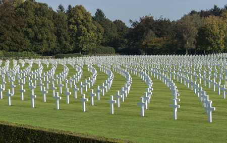 cemetry: the military american cemetry henri chapelle in belgium city hombourg