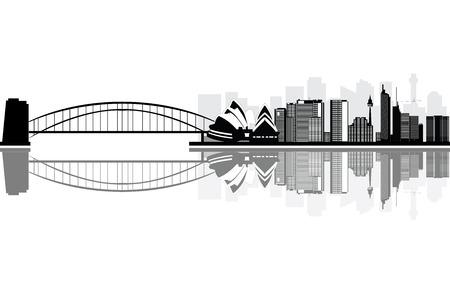 australia landscape: sydney skyline Illustration
