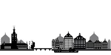 stockholm skyline Vector