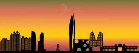 seoul: seoul city skyline Stock Photo