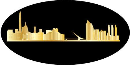 buenos aires: buenos aires Skyline der Stadt