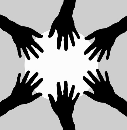 hands together Vector