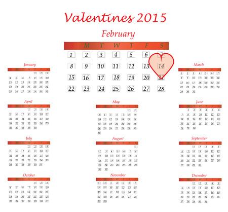 weekly planner: valentines day 2015