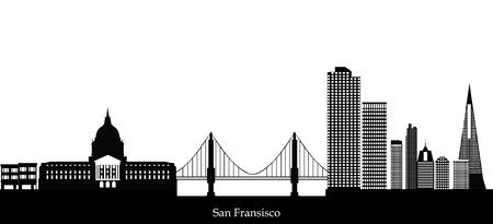 San Francisco skyline Vecteurs