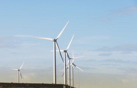 rotterdam: windmills in holland area europoort near rotterdam