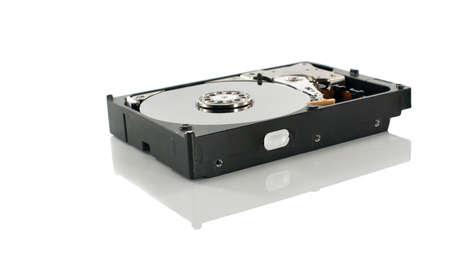 harddisk: hardware computer harddisk isolated on white