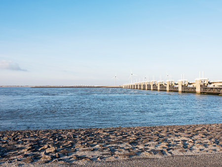 watermanagement: overview of the deltaworks in holland at the Oosterschelde river to protect holland form high sea level