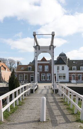 wold: The old village Veere with the bridge in the part Zeeland of the netherlans, Veere was old fisher harbor Stock Photo