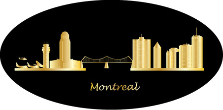 financial district: montreal city skyline
