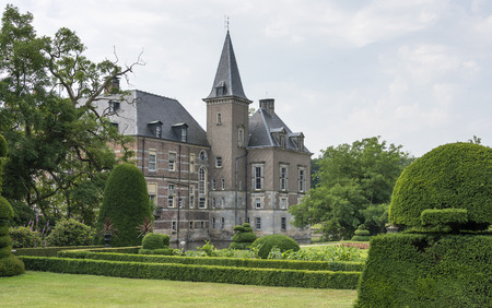 view on twickel in the dutch place Deleden seen from the green garden