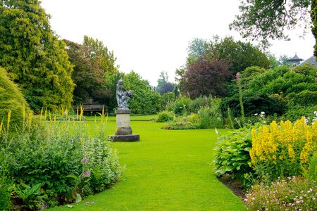 Big English Garden With Borders And Flowers
