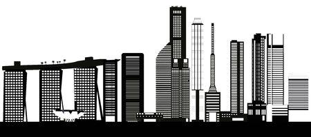 outlook: Singapore city skyline