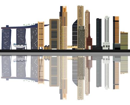 singapore skyline: Singapore city skyline