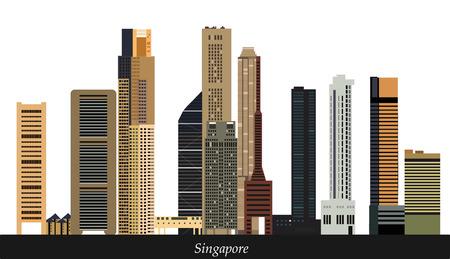 singapore city: Singapore city skyline