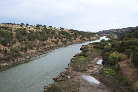 alentejo: river in Portugal from Ardila to Moura in Alentejo