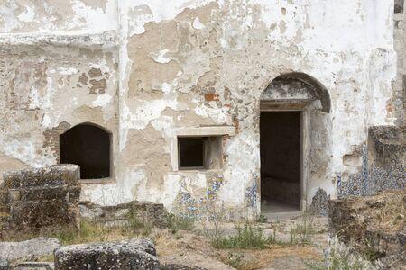 alentejo: entrace door of old ruine in Moura portugal Alentejo area
