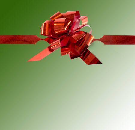 ecoration: red ecoration isolated on black background