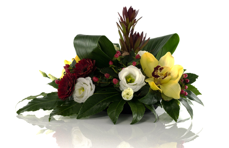 flower arrangement isolated on white background Stock Photo