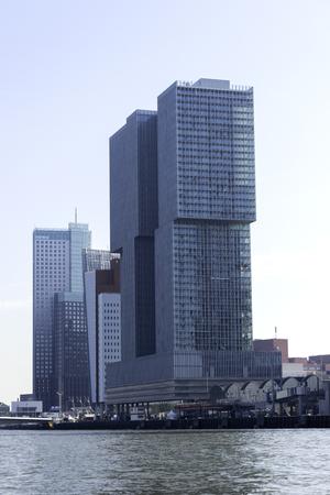 maas: buildings of cruise terminal rotterdam at the river maas