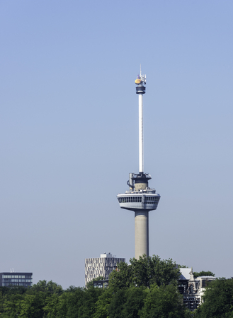 holidays vacancy: euromast tower in the dutch city of Rotterdam Editorial