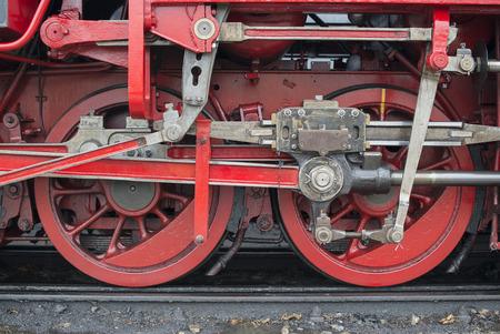 loc: old vintage stem loc wheels in red metal
