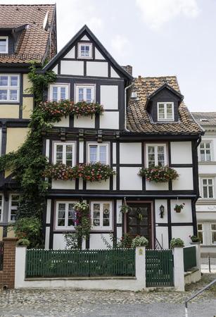 maison à colombages à Quedlinburg Allemagne Éditoriale