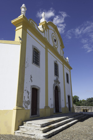 senhora: Church of Our Lady of Grace (Igreja de Nossa Senhora da Graca) at Sagres Fortress,Algarve, Portugal