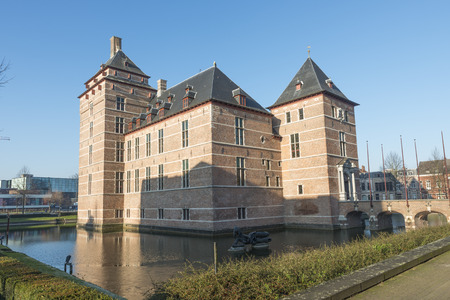 12th century: TURNHOUT-BELGIUM-DECEMBER 30, 2016. Castle of the Dukes of Brabant (12th century). In the 18th and 19th century it fell into disrepair and has restored by the county (20th century). Now, it is a courthouse