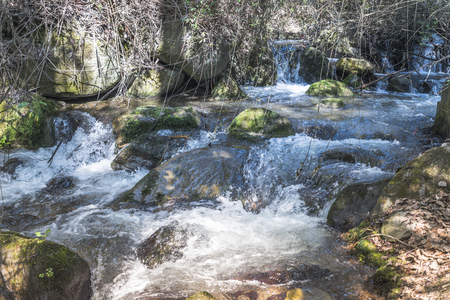 natue: Waterfall in the mountains from andalusia spain