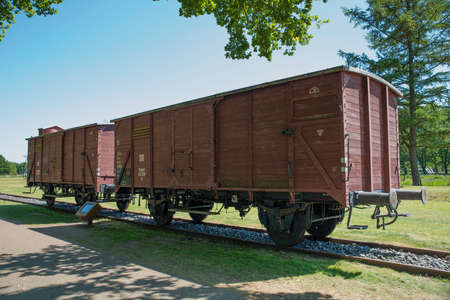 Cargo Train Cars in Westerbork Transit Camp in Holland