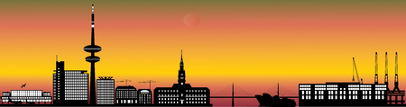 hamburg city skyline