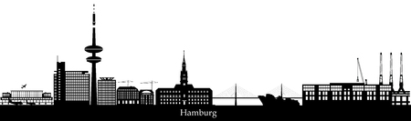 hamburg city skyline.