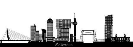 Rotterdam city skyline.