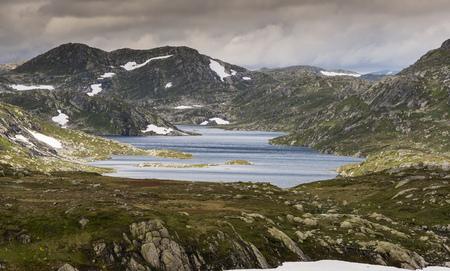 high plains in norway near valle Stok Fotoğraf