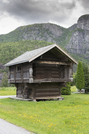 typical old typ of wodenhouse in norway