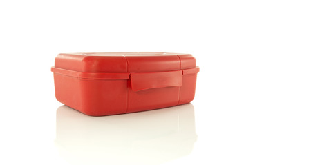 insulated red lunch box