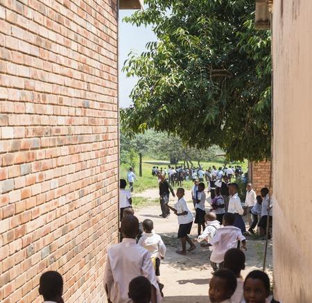 african school children playing at school