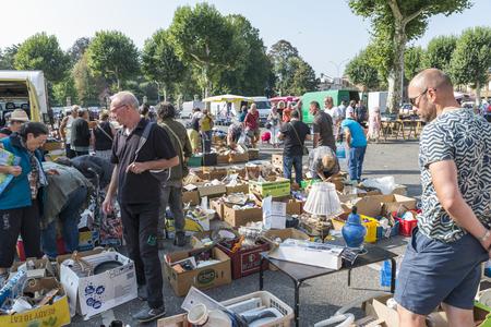 people on the flea market