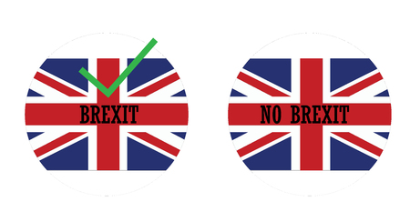 icons with the english flag and icons for brexit Иллюстрация