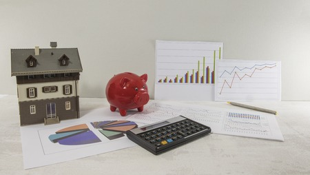 organising the financial state of house investment Stock Photo