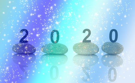 New years resolution 2020 concept Stock Photo