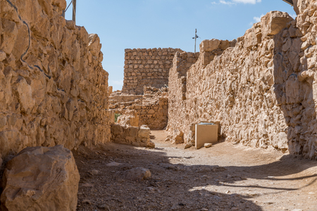 Ruins of the ancient Masada fortress in Israel,build by Herod the great