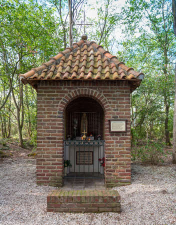 Weert,Holland,10-sept-2020:This chapel was built in 1947 after World War II, out of gratitude that many survived the war on this very spot
