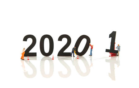 little people working at the new 2021 and remove the 2020 letters