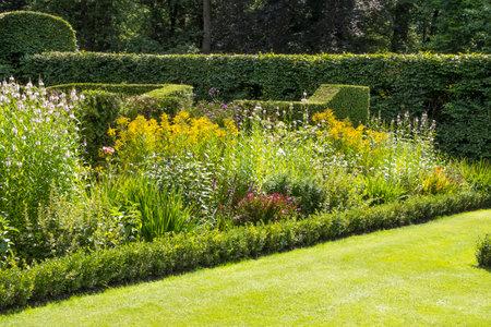 english green garden with borders