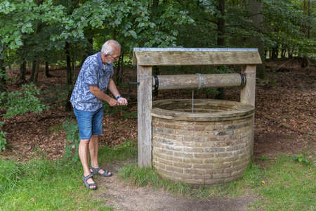 old stone water well