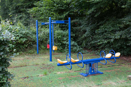 old abandoned playground Foto de archivo