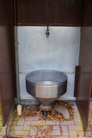 old sink for dirty water on camping