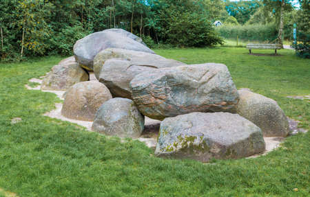 a big hunebed in Holland found in diever